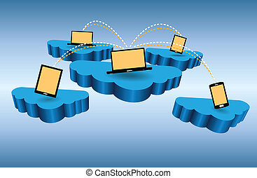 összeköttetés, hálózat, felhő