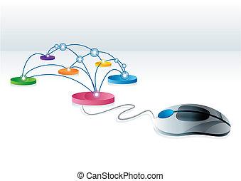 összeköttetés, internet