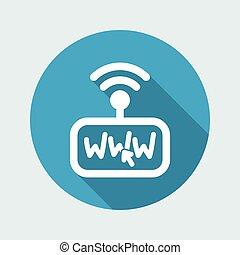 összeköttetés, modem, internet