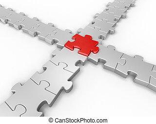 összeköttetés, rejtvény