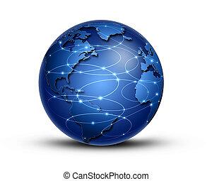 összeköttetés, világ