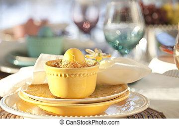 összpontosít, színhely, étkező, szelektív, húsvét, kilátás