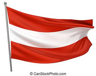 österreich markierungsfahne, national