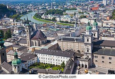 österreich, salzburg, cityscape