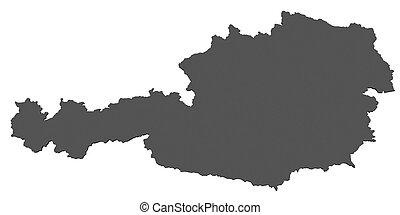 österreichkarte, -, freigestellt