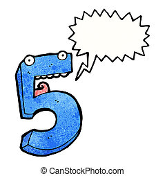 öt, karikatúra, szám