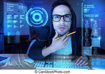 övé, ellenző, gyanús, látszó, időz, vonatkozik áll, programozó, áttetsző