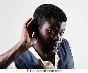 övé, fog, kéz, amerikai, valami, kihallgatás, afrikai, fül