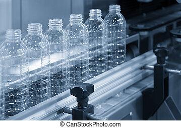 öv, új, műanyag palack, kézbesítő