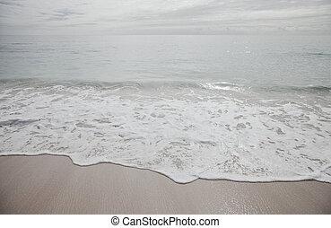 över, mulen dag, hav