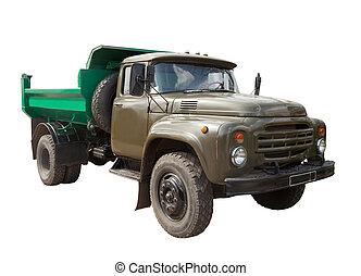 över, truck., sovjetmedborgare, isolerat, årgång, militär, vit