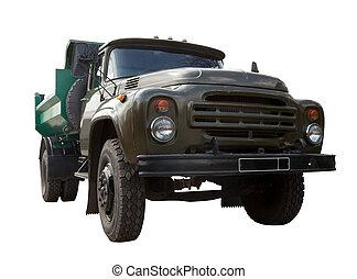 över, truck., sovjetmedborgare, isolerat, årgång, vit