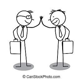 överenskommelse, affärsman