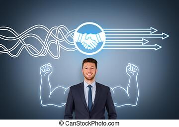 överenskommelse, lösning, begreppen, på, synlig bildskärm