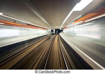 övergående, station, tunnelbana