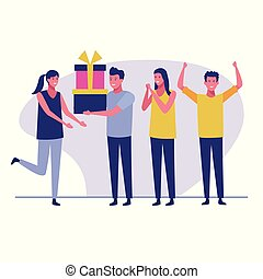 överraskning, födelsedag festa