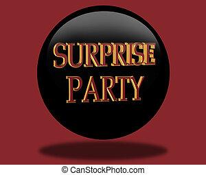 överraskning, födelsedag festa, inbjudan