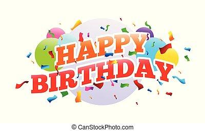 överraskning, födelsedag, lycklig, parti