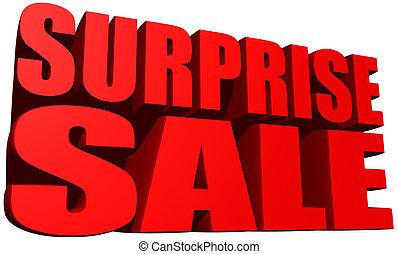överraskning, försäljning