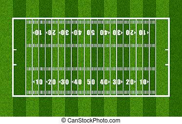översikt, amerikansk fotboll, fält