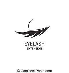øjenvippe, udvidelse, ikon