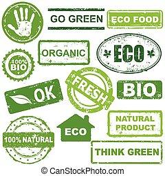 økologiske, frimærker