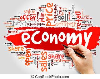 økonomi, glose, sky