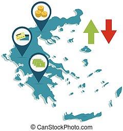 økonomi, i, grækenland