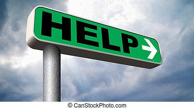 ønskes, hjælp