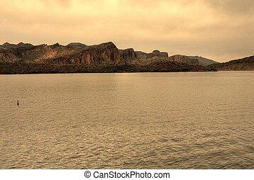 ørken, sø