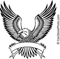 ørn, hos, emblem