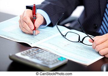 účetní, businessman.