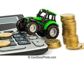 účetnictví, cena, zemědělství