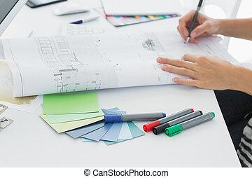 úřad, umělec, pero, noviny, cosi, kreslení
