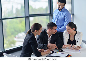 úřadovna národ, setkání, skupina, povolání