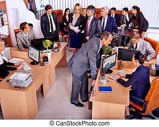 úřadovna., skupina, business národ