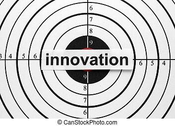 újítás, céltábla