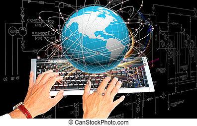 újító, internet, oktatás