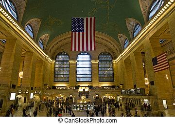 új, állomás, központi, york