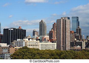 új, épületek, york