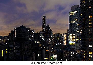 új, épületek, york, város
