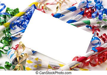 új év eve, vagy, születésnapi parti, meghívás
