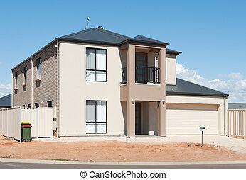 új, ausztrál, épület