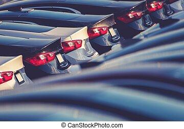 új, autók, részvény