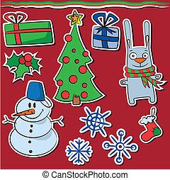 új, böllér, karácsony, év