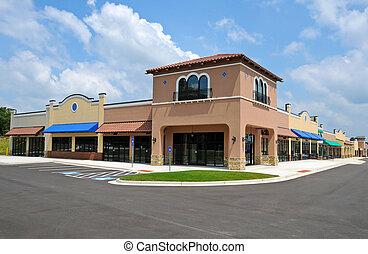 új, bevásárló központ