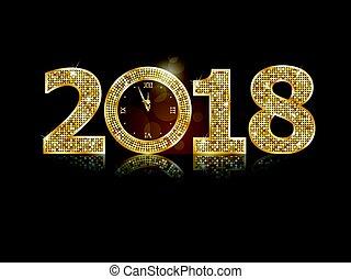 új, boldog, 2018, év