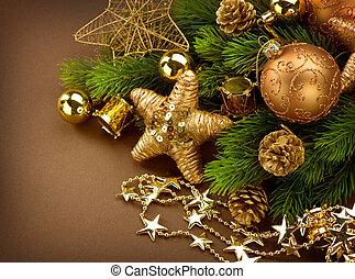 új, christmas dekoráció, év