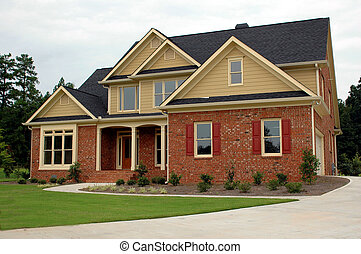új családi, épület