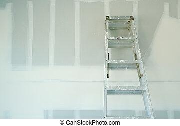 új, drywall, sheetrock